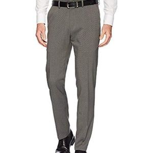 NWT Kenneth Cole heather stretch flat front pants